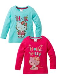 """HELLO KITTY"" Langarmshirt (2er-Pack), Hello Kitty, dunkelpink+türkis ""HELLO KITTY"""
