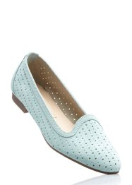 Lederslipper, bpc bonprix collection, mint