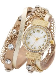 Wickelarmbanduhr Mairi, bpc bonprix collection, gold