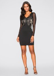 Kleid mit Spitzenapplikation, BODYFLIRT boutique