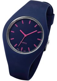 Silikonarmbanduhr, bpc bonprix collection, blau