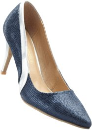 Pumps, bpc selection premium, dunkelblau/silber