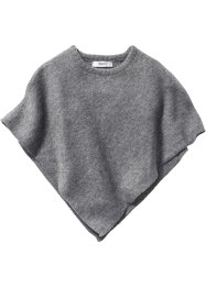 Strickponcho, bpc bonprix collection, anthrazit meliert