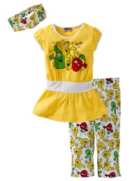 Kleid + 3/4 Leggings + Haarband (3-tlg. Set) (Haribo)