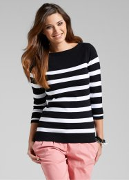 Pullover mit U-Boot Ausschnitt 3/4-Arm (bpc bonprix collection)