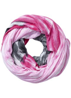 "Loop ""Rainbow"", bpc bonprix collection, ecrú/dunkelpink"