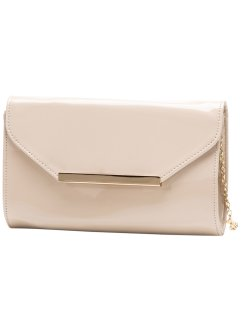 Clutch in Lackoptik, bpc bonprix collection, nude