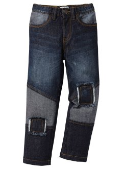 Jeans mit Patches, John Baner JEANSWEAR, black stone used