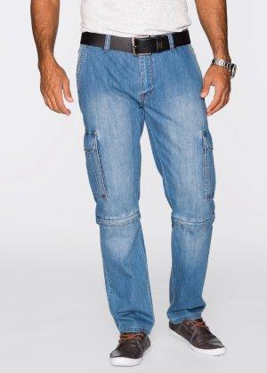 Zipp-Off Cargojeans Regular Fit Straight, John Baner JEANSWEAR