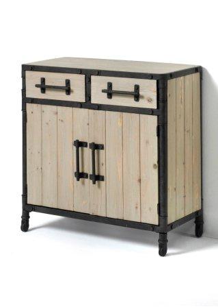 Kommode madeira mit 2 t ren grau natur bpc living for Bonprix kommode