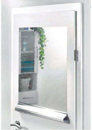praktische spiegelfolie f r w nde t ren und schr nke silber. Black Bedroom Furniture Sets. Home Design Ideas