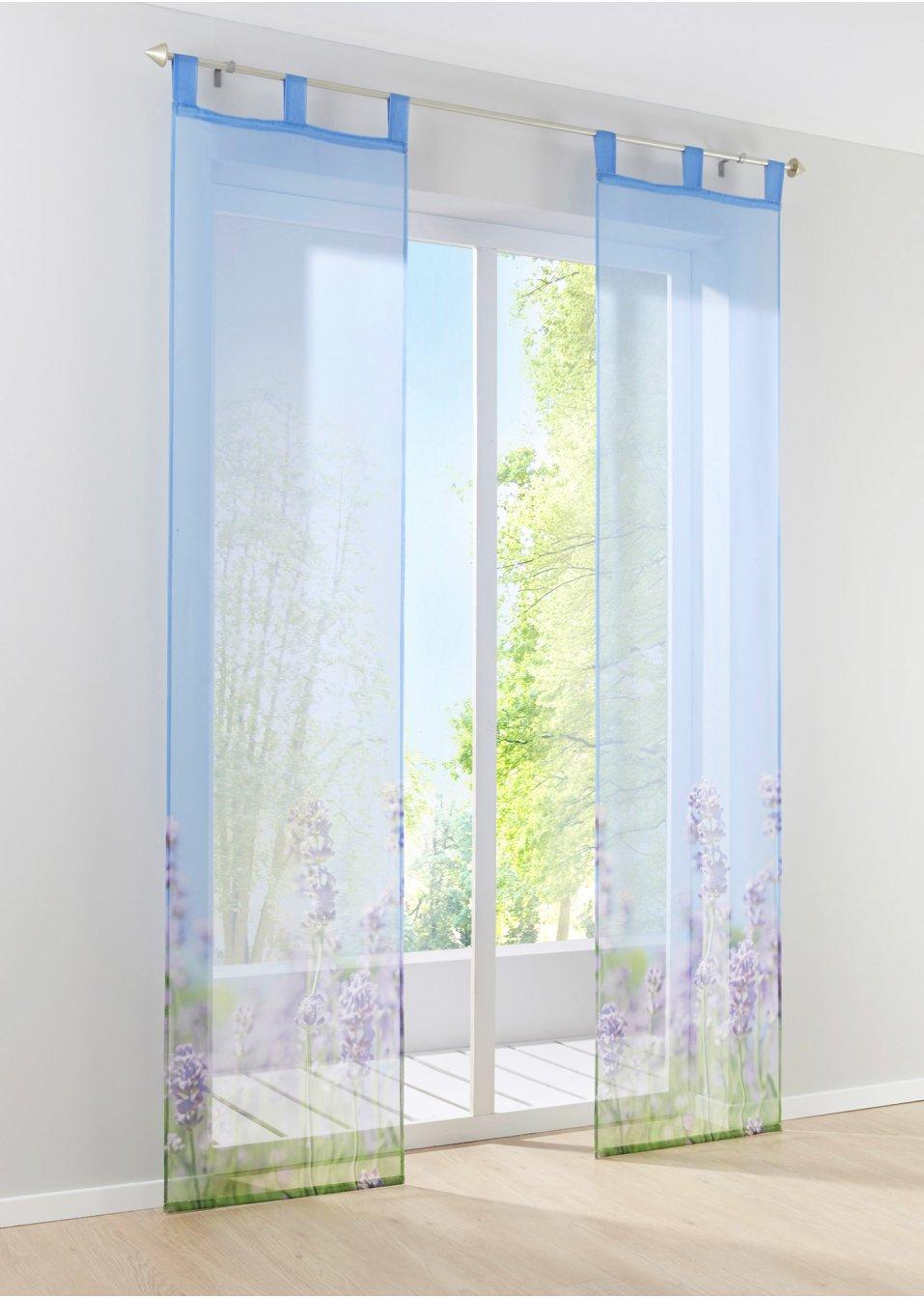 schiebegardine lavendel 1er pack schlaufen lila. Black Bedroom Furniture Sets. Home Design Ideas