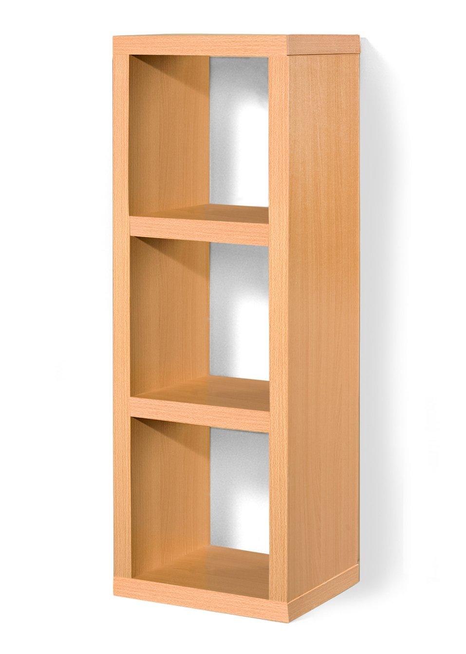allesk nner in w rfelform regal kenia 3 f cher buche mit 3 f chern. Black Bedroom Furniture Sets. Home Design Ideas