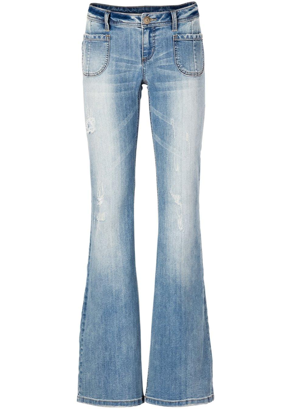 coole schlag jeans mit auff lliger waschung blue stone. Black Bedroom Furniture Sets. Home Design Ideas