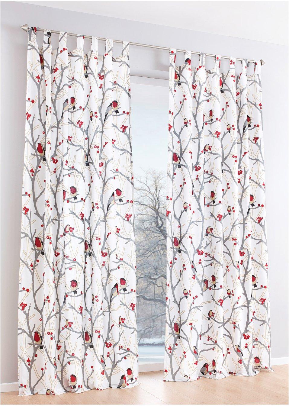 gardinen deko » bonprix vorhänge weiß - gardinen dekoration ... - Küchengardinen Mit Schlaufen