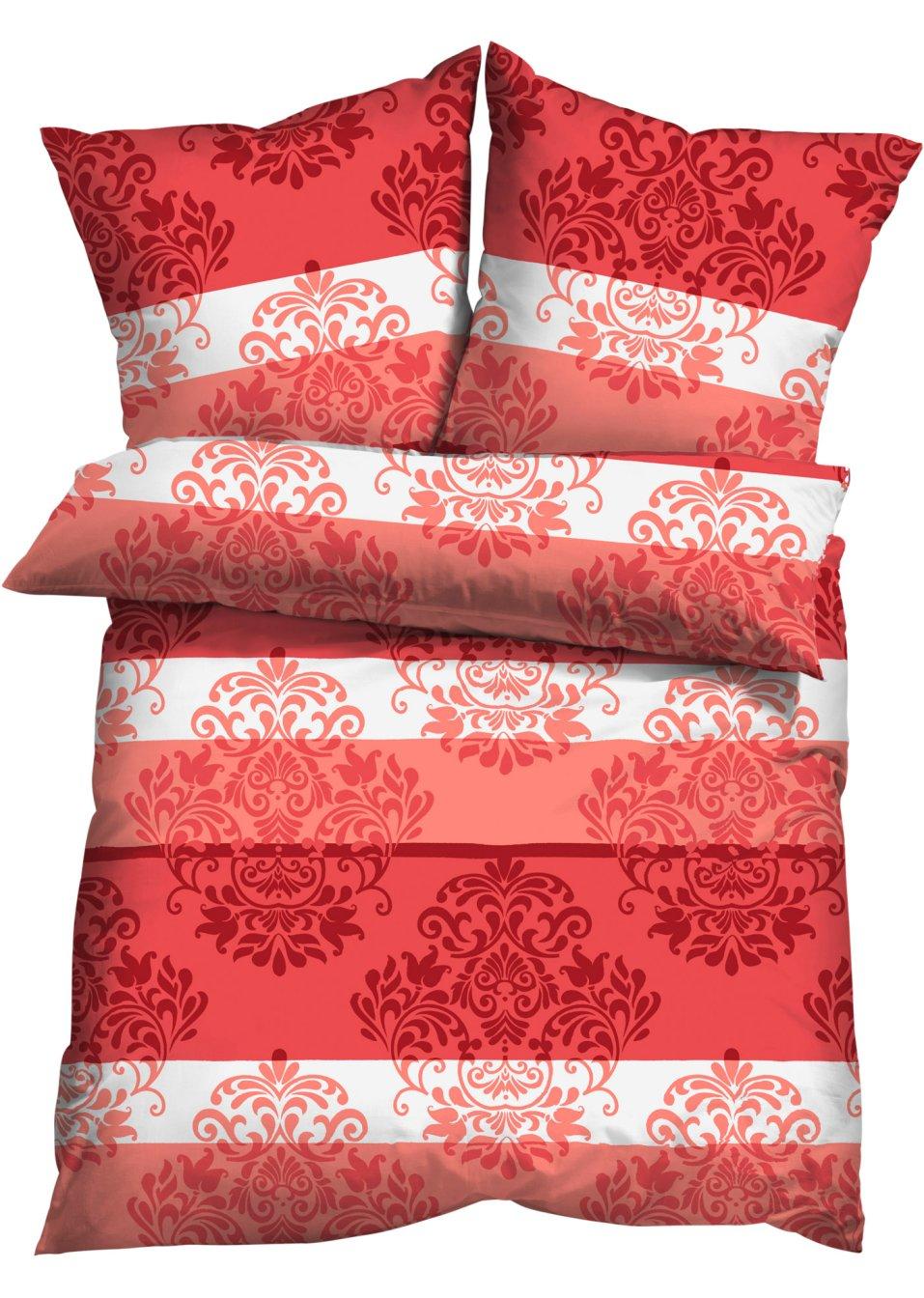 f r exklusiven schlafkomfort die bettw sche ornament rot microfaser. Black Bedroom Furniture Sets. Home Design Ideas