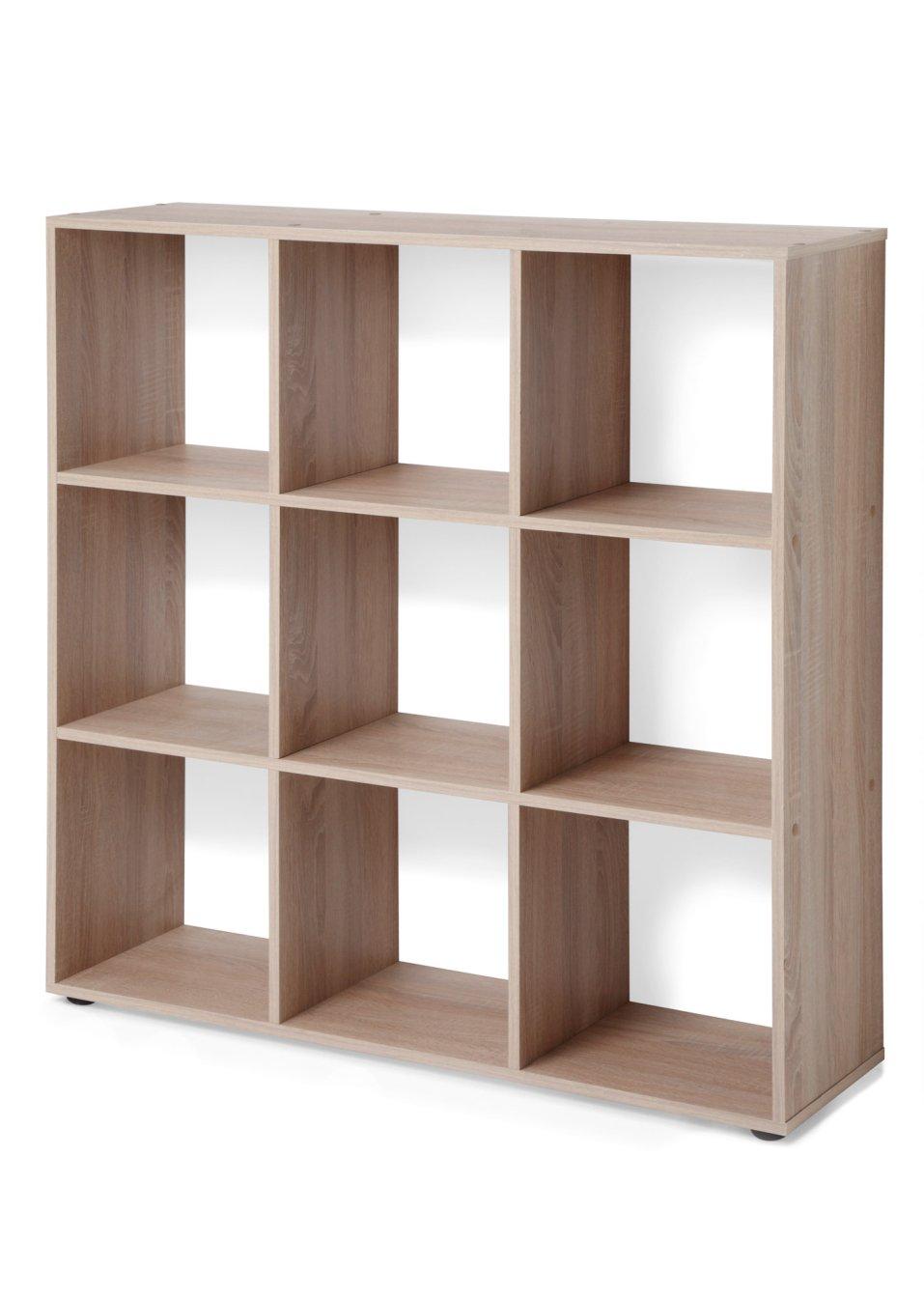 regal kuba 9 f cher mit 9 f chern wei bpc living. Black Bedroom Furniture Sets. Home Design Ideas