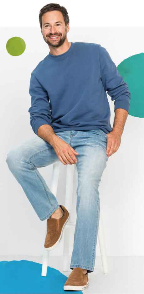 Herren - Herren Sweatshirt, Regular Fit - jeansblau