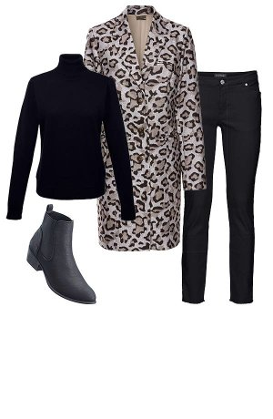 Stories - Mantel - leopard braun