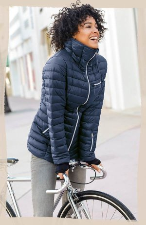 Damen - Outdoor-Steppjacke - dunkelblau