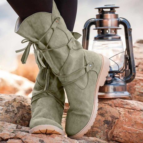Damen - Stiefel - new khaki