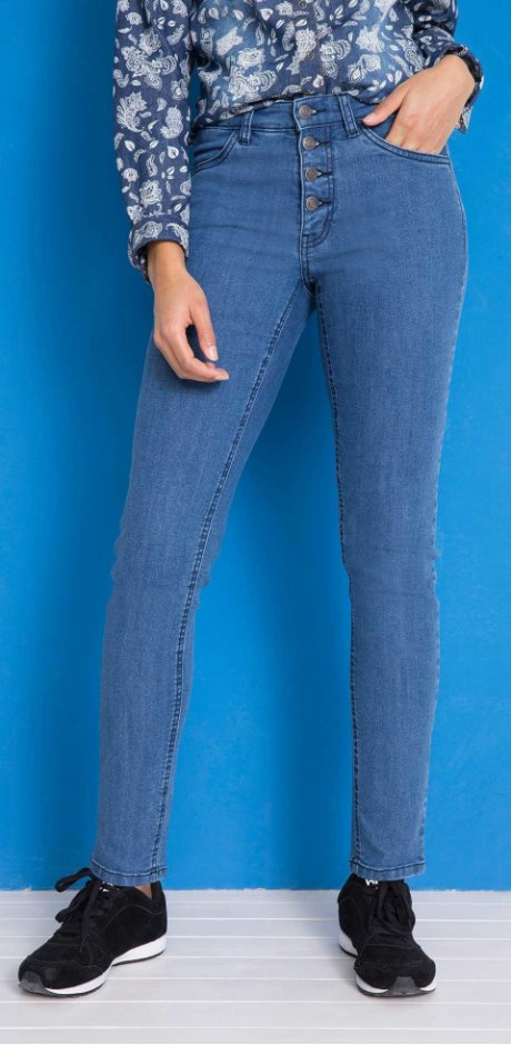Damen - Komfort-Stretch-Jeans Slim Fit - blau