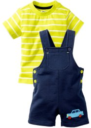 Baby-T-Shirt + Sweatlatzhose (2-tlg. Set) Bio-Baumwolle, bpc bonprix collection