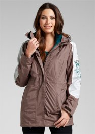 Wetterjacke 3in1, bpc bonprix collection, matt braun/petrol bedruckt