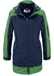 3 in 1 Outdoorlangjacke, bpc bonprix collection, dunkelblau/mattmoos