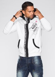 Sweatjacke Slim Fit, RAINBOW, azurblau