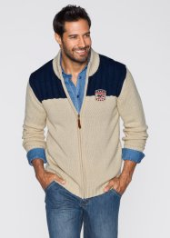 Strickjacke Regular Fit, John Baner JEANSWEAR, beige