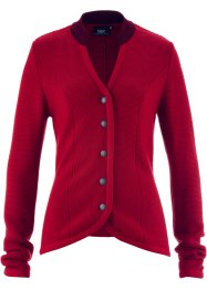 Trachten-Strickjacke mit Stehkragen, bpc bonprix collection