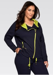 Langarm-Sweatjacke, bpc bonprix collection, dunkelblau