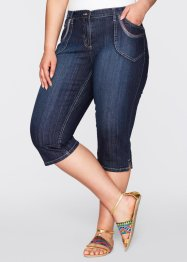 Capri-Stretch-Jeans, bpc bonprix collection, darkblue stone