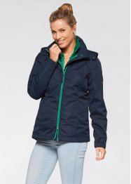 3-in-1-Funktions-Outdoorjacke, bpc bonprix collection, dunkelblau/jadegrün
