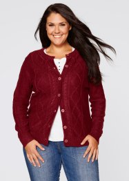 Strickjacke, John Baner JEANSWEAR, bordeaux
