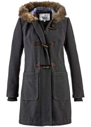 Duffle-Coat mit Kapuze, bpc bonprix collection, anthrazit meliert
