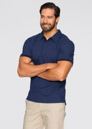Poloshirt Regular Fit, bpc selection, dunkelblau gemustert