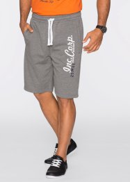 Sweat-Bermuda, bpc bonprix collection, grau meliert