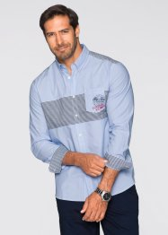 Langarmhemd Regular Fit, bpc bonprix collection, hellblau