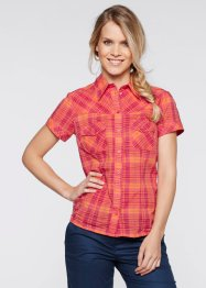 Bluse, bpc bonprix collection, himbeere/orange kariert
