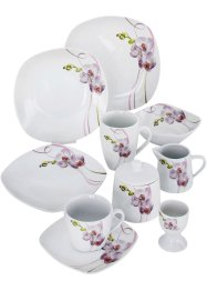 Geschirr-Set Orchidee (50-tlg.Set), bpc living bonprix collection