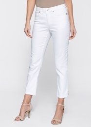 7/8 Jeans mit Zierkette, bpc selection, blue bleached