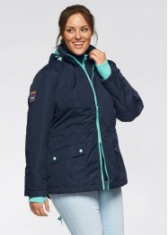 Funktions-Outdoor-Langjacke in 2-in-1-Optik, bpc bonprix collection, dunkelblau