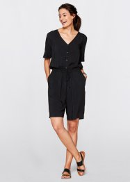 Halbarm-Overall, bpc bonprix collection, schwarz