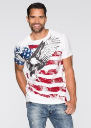 T-Shirt Slim Fit, John Baner JEANSWEAR, wollweiß