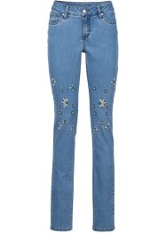 Jeans mit Schmuckapplikation, BODYFLIRT boutique, blau