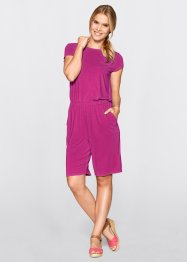 Jersey-Jumpsuit, bpc bonprix collection, mittelfuchsia