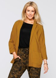 3/4-Arm-Blazer – designt von Maite Kelly, bpc bonprix collection, rehbraun