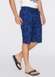 Bermuda Loose Fit, bpc bonprix collection, enzianblau bedruckt